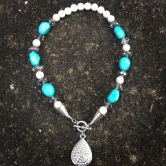 Pearl and crystals £29